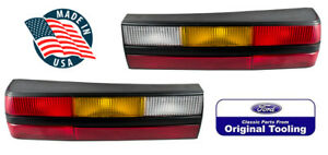 1983 1984 Ford Mustang Black Oem Complete Rear Taillights Tail Lights Pair New