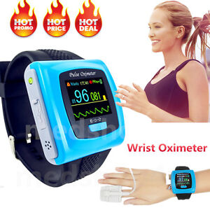 Contec Fda Digital Color Wrist Fingertip Pulse Oximeter spo2 Pr usb Sw Cms50f