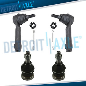 Front Lower Ball Joints Outer Tie Rods For Dodge Grand Caravan Voyager