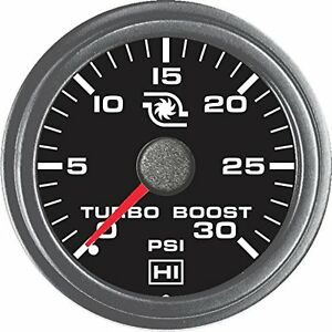 Hewitt 1021011r1hi Universal Turbo Boost Gauge 30 Psi