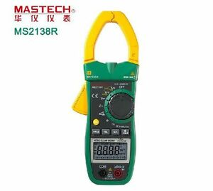 Mastech Ms2138r Ac Dc Digital Clamp Meter True Rms