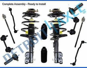 12pc Front Strut Sway Bar Link Inner Outer Tierod Kit For 04 08 Nissan Maxima