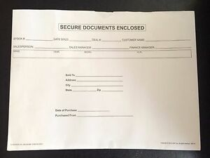 Secure Documents Enclosed Folders qty 245 Envelopes