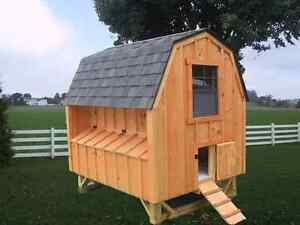 Chicken Coop Pa Dutch Amish Custom Pen Poultry Shed Hen House Board And Batten