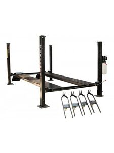 Four Post Auto Lift 8 000 Lb Car Vehicle Lift Storage Garage Longer Taller New