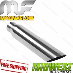 35138 Magnaflow Exhaust Tip Angled Cut Single Wall 2 5 Inlet 3 Outlet 18 Long