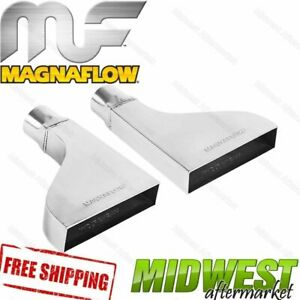 35150 Magnaflow Exhaust Tip Rectangle Single Wall 2 25 Inlet 2 x8 Outlet