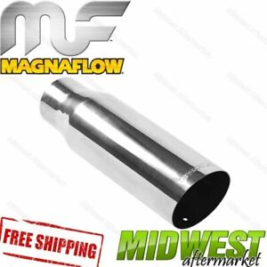 35205 Magnaflow Exhaust Tip Angled Cut Single Wall 2 5 Inlet 3 5 Outlet