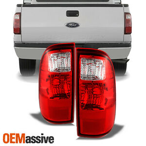 Fit 08 16 Ford F250 F350 F450 Superduty Red Tail Lights Lamps Aftermarket L R
