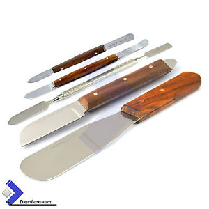 Plaster Alginate Knife Fahen Wax Cement Mixing Spatula Laboratory Hand Tools Kit