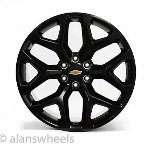 4 New Chevy Suburban Tahoe Gold Bowtie Matte Black 22 Wheels Rims Lug Nuts 5668
