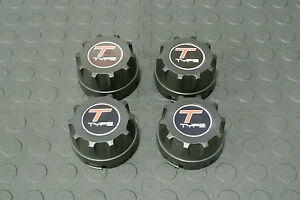 American Racing Enkei 92 Wheel Rim Center Caps 89 8064 W T Type Logo Set 4