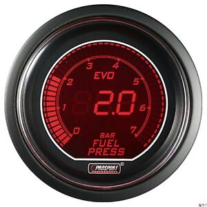Prosport 52mm Evo Series Digital Red Blue Led Fuel Pressure Gauge Bar