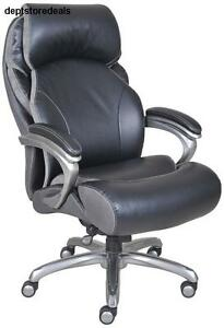 Executive Office Desk Chair High Back Bonded Leather Heavy Duty Big Serta Home
