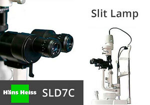 Slit Lamp Hans Heiss Sl7dcl Led x2 Magnifications With 1 Year Warranty