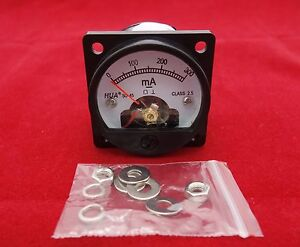 1pc Dc 0 300ma Analog Ammeter Panel Amp Current Meter So45 Cutout 45mm