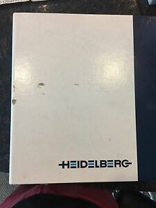 Heidelberg Speedmaster 52 Spare Parts Book 2