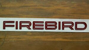 Oem Pontiac firebird Red Script Letters Emblem Unknown 10 75