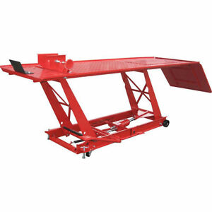 Motorcycle Lift Atv Bike Stand Jack Table 1000 Lb 1 2 Ton Capacity Easy Moving