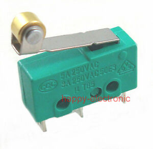 100pcs Micro Switch Kw4 Limit Switch 3pin N o N c With Roller Lever