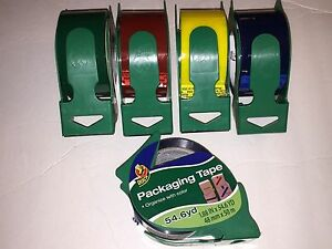 Duck Packaging Tape 1 88 X 54 6 Yards Yellow Red Blue Or Green