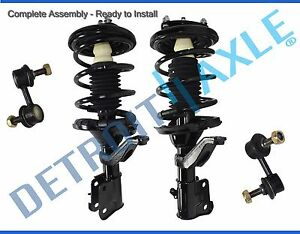 Acura El Honda Civic Front Strut Coil Spring Sway Bar Link 4pc Kit