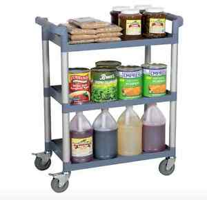 Three Shelf Utility Cart Bus Cart 32 X 16 X 38 Fast Shipping New