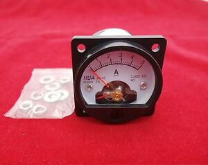 1pc Dc 0 5a Analog Ammeter Panel Amp Current Meter So45 Cutout 45mm