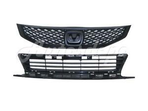 For 2009 2010 Honda Civic Coupe Grille Front Bumper Lower Grille Center 2pcs
