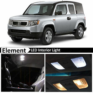 10x White Interior Map Dome Led Lights Package Kit Fits 2003 2011 Honda Element