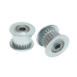 2pcs Htd 3m Idler Pulley 22 Tooth Bearing Hole 6mm Teeth Width 16mm Pitch 3mm