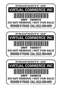 250 2 x1 Custom Printed Upc Barcode Waterproof Inventory Stickers Labels Tags