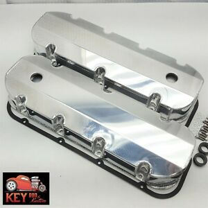 Bbc Fabricated Welded Aluminum Valve Covers Big Block Chevy Racing 454 Polished