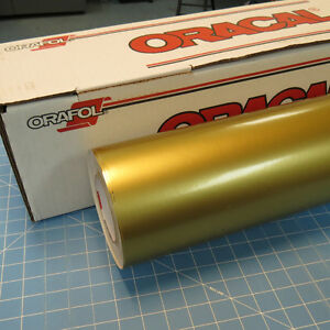Gold Metallic Oracal 651 1 24 X 30 Roll Sign Cutting Vinyl
