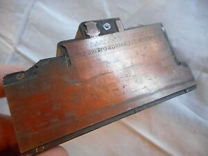 Antique Letterhead Printing Blocks Press Ermisch Cleaning Dyeing Co Indiana