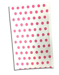 6 X 10 Hot Pink Polka Dot Rigid Kraft Bubble Mailers approved Mailers