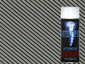 Hydrographics Film Hydrographic Activator Kit True Weave Black Carbon Fiber
