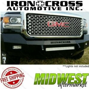 Iron Cross Low Profile Front Bumper Fits 2015 2017 Sierra 2500 3500 Hd