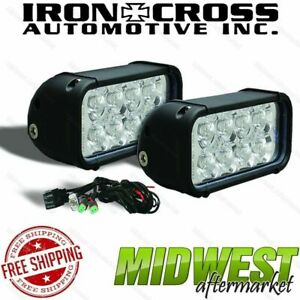 Iron Cross 3 X 6 Led Light Kit With 8 Leds Each For Rs Bumpers