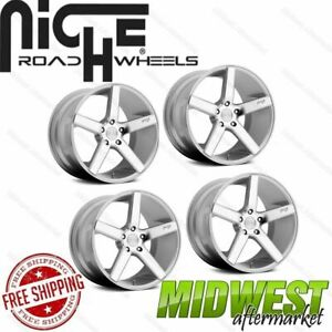 Niche Milan Silver W Machined Face 20x8 5 5x114 3 35 Offset Set Of 4