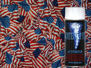 Hydrographics Film Activator Hydrodipping Water Transfer Hydro American Flags