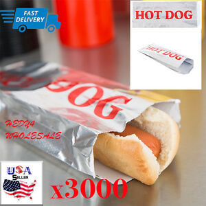 3000 Case Hot Dog Hotdog Foil Bags For Concession Use Wholesale Fast Shipping
