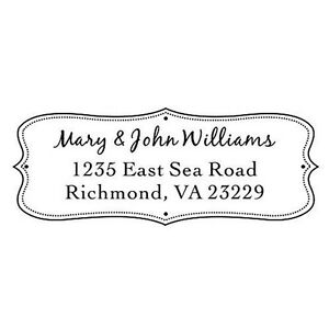 Designer Customized Ideal 4912 Return Address Withhis her Name Self Inking Stamp