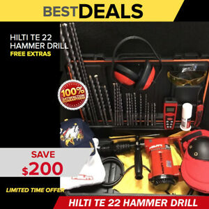 Hilti Te 22 Preowned Free Laser Meter Bits A Lot Of Extras Fast Ship