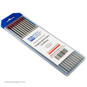 Tig Welding Tungsten Rod Electrodes 2 thoriated 5 32 X 7 red Wt20 10pk