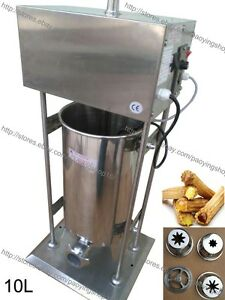 10l Electric Auto Spanish Doughnut Donut Churro Machine Maker W Fryer
