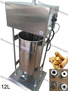 12l Electric Auto Spanish Donut Churrera Churros Maker Machine W Fryer