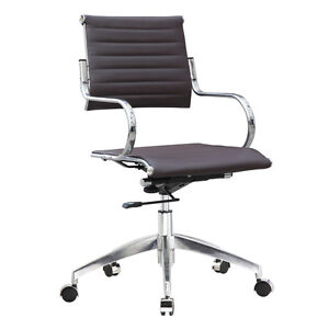 Fine Mod Imports Flees Office Chair Mid Back Dark Brown