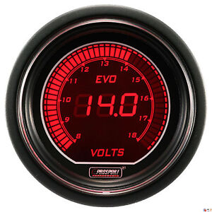 Prosport 52mm Evo Series Digital Red Blue Led Volt Voltage Voltmeter Gauge
