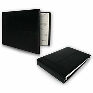 Premium Pu Leather Business Check Binder Checkbook Holder Pouch Office Supplies